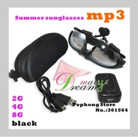 Free Shipping 10pcs/lot mp3 sunglasses player with Polarized Lens 4GB Black color