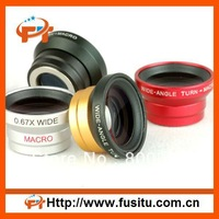 Free shipping Magnetic 0.67X Wide Angle Macro Lens for iPhone 4 4S 4G 3GS iPod touch HTC