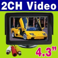 "Free Shipping Promotion time!!! 4.3"" Color Dashboard Backup TFT LCD Car Monitor LS-430A"