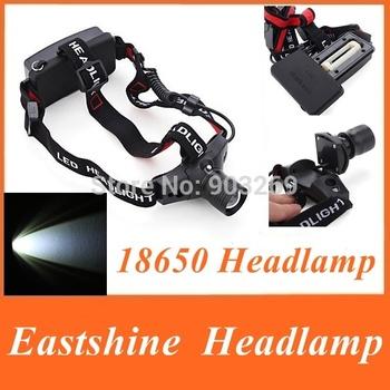 1PC 18650 Headlamp 5W 300Lm CREE Q5 LED HeadLight 3Mode Waterproof Headlamp ZOOMABLE Hiking Headlight by 1x 18650 Battery