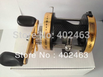 Free shipping Fishing tackle  Bait  Casting Fishing Reels Upgrade/version  SBC6000GL  All metal side cover/body 1BB  Right Hand
