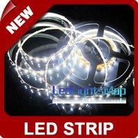 DHL EMS UPS Free Shipping 5m 500CM White 3528 SMD LED Flexible 300 LEDS Strip+Free Connector [LedLightsMap ]