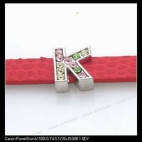 30xLetter K Charms Beads Fit 7mm Band Bracelet 160071