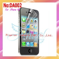 10pcs/lot Free Shipping Anti-Scratch Clear Screen Protective Film For iPhone 4G Front With Retail Package #DA002
