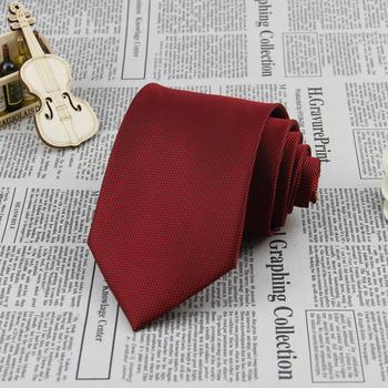 Burgundy Grid 3.4'' 100%Silk Jacquard Classic Woven Groom Man's Tie Necktie FS21