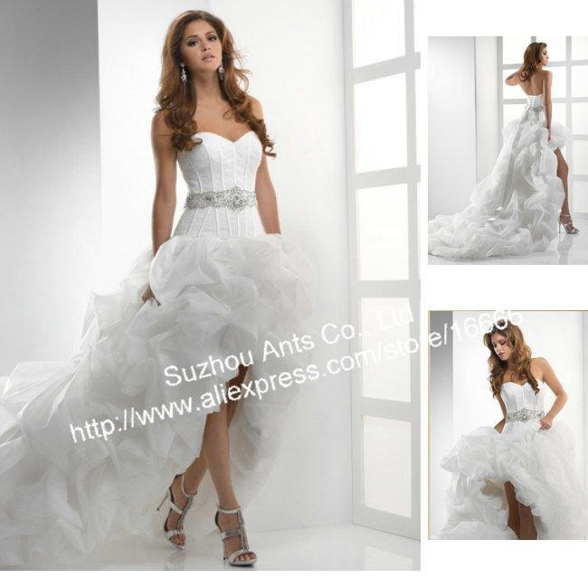 Short Front Long Back Wedding Dresses