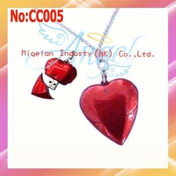 Wholesale 1pcs/lot1GB 2GB 4GB 8GB 16GB 32GB 64GB  Heart USB Flash Drive +Free shipping/Plastic #CC005