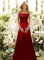 free ship,New Debutante dress,party women's clothes, bridesmaid dress, A-line claret