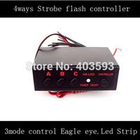 FREE SHIPPING 4 Ways LED Light Flasher Flash Strobe Controller Box