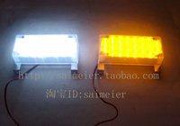 FREE SHIPPING 2*22 LED Fire Emergency Strobe Warning Lights  WHITE AMBER 3 FLASHING MODE