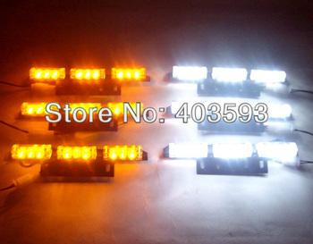FREE SHIPPING 6*9 54LED Car Flash Strobe Light Waterproof WHITE AMBER 3 FLASHING MODERECOVERY SECURITY TRAFFIC