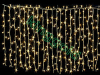3mx3m Yellow led curtain light  waterproof Garden wedding christmas Background wall X'MAS decoration outdoor led string light