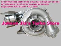 GT1544V/753420-5005S Turbo for CITROEN C2 C3 C4 C5 Picasso,FORD C-Max Focus,MAZDA3,PEUGEOT 206 307 407,VOLVO S40 V50 DV4T DV6T