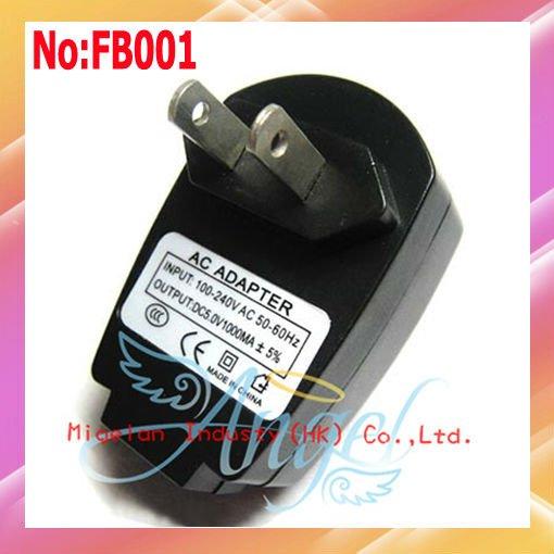 10pcs/lot Wholesale 1000mA USB charger for iphone 4G USA plug Free shipping #FB001(China (Mainland))