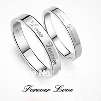 Silver Wonderful Classical Love Forever Mark Double Pure 925 sterling silver mark love rings for couples WR067