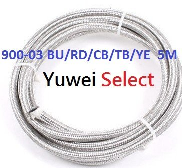 TEFLON (PTFE) Stainless Steel Braided Hose with PVC Colored Cover ( ID 3.2 mm / OD 6.0 mm / COVER OD 7.3 mm,One piece = 5 Meter)(China (Mainland))