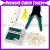 network Cable Tester RJ45  RJ12 CAT5 CAT5e 10/100BaseT+ Punch Tool+Crimp Tool #352