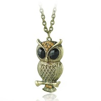 Fashion Jewelry Necklaces Owl Necklace Owl Pendant Necklace
