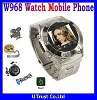 "Hot Selling W968 Watch Phone Mobile 1.3MP Camera,1.3""Touch LCD,Bluetooth MP4,FM Voice Record,Hands Free"