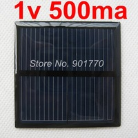 1V 500mA 0.5W mini solar panel small solar panel power for small motor best free shipping 20pcs/lot