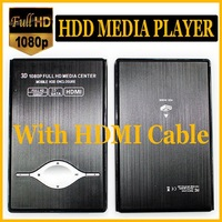 "1080P 2.5"" HDD Media Player - RM MKV H.264 SD USB HD with HDMI cable Support 3D video  - sample"