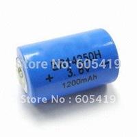 ER14250H 300pcs/Lot,free shipping, 1/2AA Li-SOCI2-Battery, 3.6v lithium batteries,