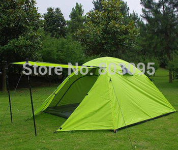 High Quality 3-4 Person Double Layer Aluminum Alloy Camping Tent Family Outdoor Tent