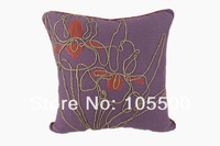 Free Shipping Linen/Rayon Embroidery Cushion Cover HT-LREC-02