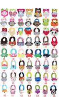 Retail-44 designs Cartoon Animal Modeling Infant  Baby bibs/Flower cotton bibs/Floral waterproof bibs/cupcake teething bib