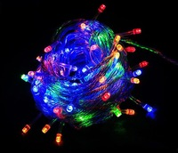 Retail & wholesale Freeshipping 100 LED colorful 10M 220V String Lights for Christmas holiday Party ,wedding party
