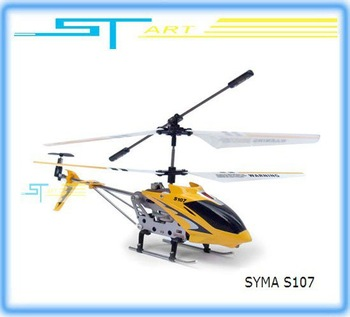 SYMA S107 RTF 3ch mini Rc Helicopter With GYRO & Aluminum Fuselage