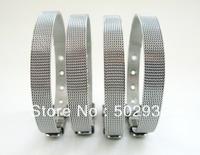 10pcs 8mm Wide 210mm Length Steel Wristband Bracelet Free Shipping