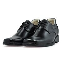1233- Black  Dress genuine leather shoes for men +handmade  +good quality