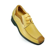 Wholesale Cheap high heel lift leather shoes-Men's handmade shoes with lace-up growing 2.5 inches taller secrets.
