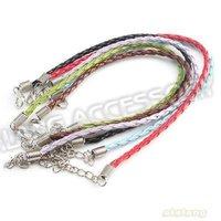 108pcs/lot Mixed Colors Braided Imitation Leather Bracelets Cords 20cm 130106