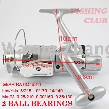 REEL wholesale 100% new plastic fishing reels 2 Ball bearing spinning reels 5.1:1 fishing tackle YL63(China (Mainland))