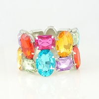 Fashion Color Shiny Rhinestone Bracelet Elastic Bracelets free shipping