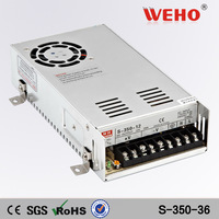 (S-350-24) 24VDC output 110/220VAC input 350W power supply