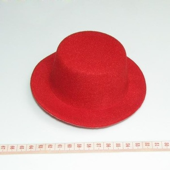 NEW RED mini party top hat clips plain DIY fascinator