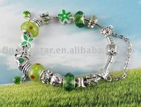 FREE SHIPPING Mixed 6pcs European style bead charm bracelet #20056,#20063,#20068,#20069,#20070,#20072