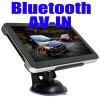 7 Inch Slim GPS Navigation System Bluetooth+FM+AV IN MAP + built in 4GB memory 7inch Gps