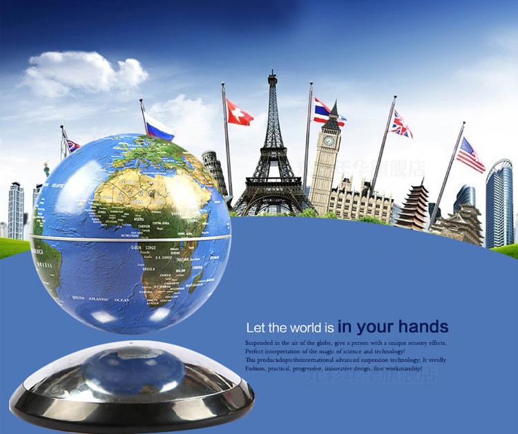 Livraison gratuite! Lévitation magnétique flottant globe carte anti gravité globe terrestre jouets cool