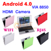 New 7 inch Android 4.0 VIA 8850 DDR3 512M 4GB HDD HDMI Camera WIFI RJ45 Netbook Laptop Notebook(China (Mainland))