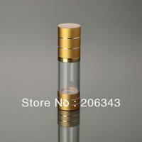 30ML golden airless plastic lotion bottle with airless pump can used for Cosmetic Sprayer or Cosmetic Packaging