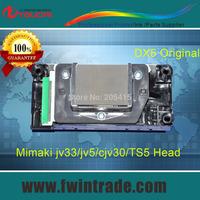 5pc dx5 cable free dx5 solvent printhead for Mimaki JV33 JV5 CJV30 Mutoh vj1204/1304/1604 printer green connector dx5 print head