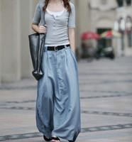 S0012  Free shipping high quality women's fashion long Denim  Bud skirt