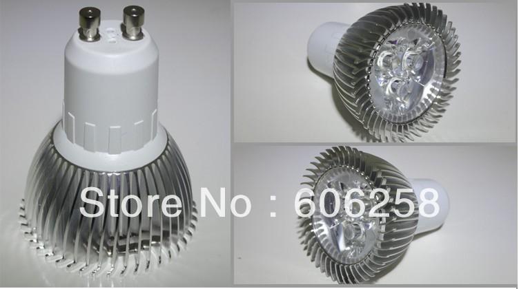 Free shipping+ 50PCS LED energy-saving lamps / 85V-220V 3W GU10 LED lamps / high-power spot lights 3*1W(China (Mainland))
