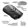 Car Radar Detector 9740 15-Band Detection  2pcs/lot specially offer for russian and europe