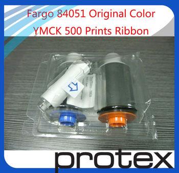 Fargo HDP5000 original color Ribbon 84051 YMCK 500 images---free shipping