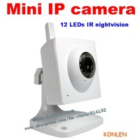 DHL/UPS Free shipping mini IP camera wireless for home indoor use, 12 LEDS IR nightvision, IE/iphone/ipad monitor
